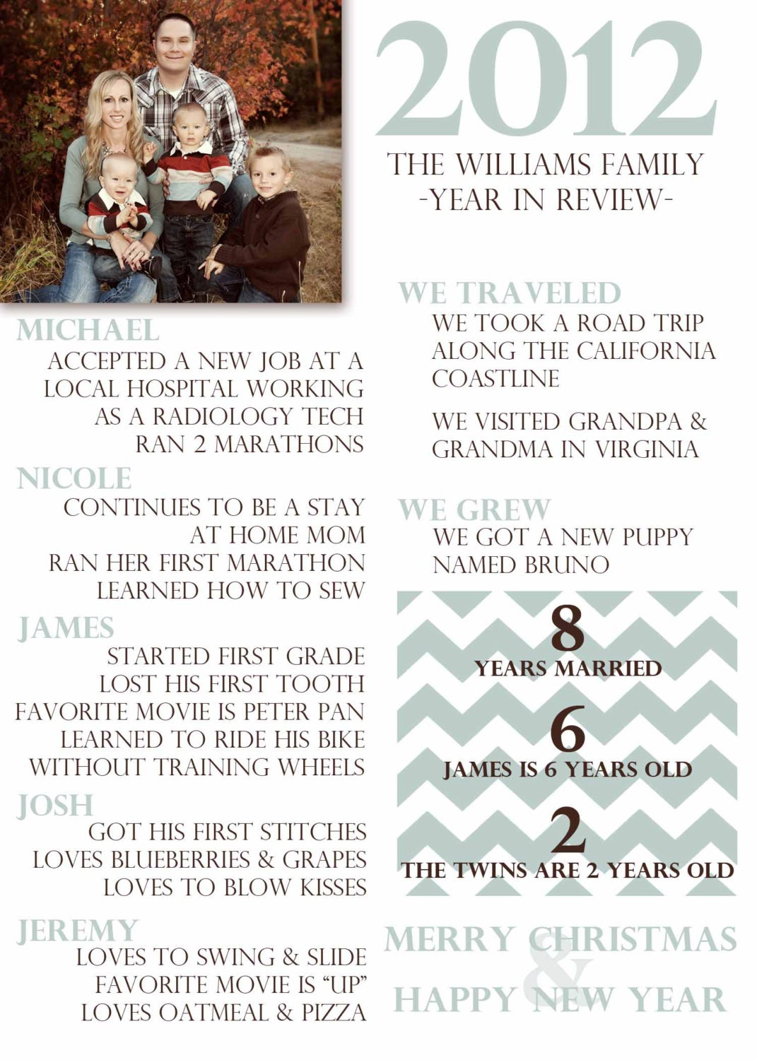 Year In Review Christmas Card