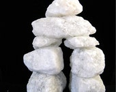 Inuksuk - Inukshuk, Inuit symbol, Canada, white quartz stone, sculpture, protect, meditation, Olympics, home decor, handmade in Canada, OOAK