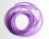 Rubber cord 5mm medium orchid, solid,6 feet