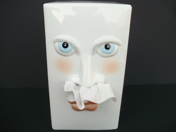 Unique Face Tissue Box Cover By Gorbysartandantiques On Etsy