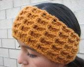 Waffle stitch crochet headband