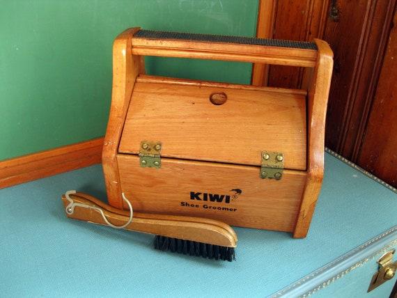 Shoe Shine Box and Folding Wooden Hanger and Brush