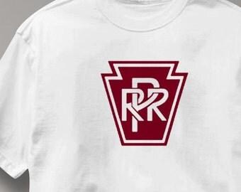 Pennsylvania Railroad T Shirt Railway Logo Train Tee Shirt Mens Womens Ladies Youth Kids