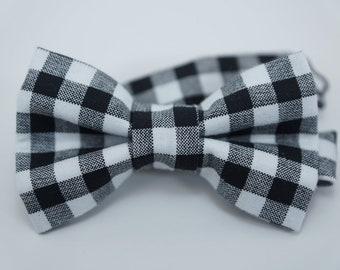 Bow Tie -Black & white gingham Bowtie