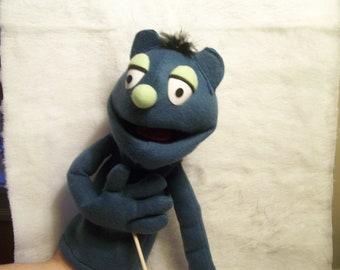 Blue hand puppet