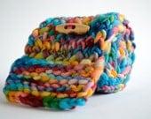 Handspun Hand Knitted Scarf