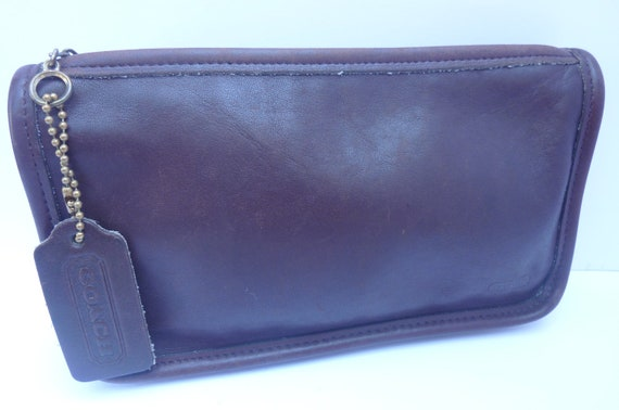 Coach Leather Clutch Wallet Make Up Case 190s