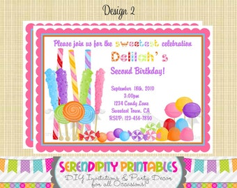 Candyland Invitation - Use for Birthday, Baby Shower, Birth Announcement