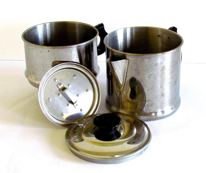 Vintage Coffee Espresso Maker Pot / Drip Stove Top / Camping