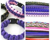 Paracord Survival bracelet - 550 Paracord Made to Order You pick color