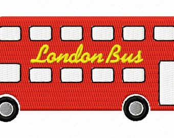 London Bus embroidery file
