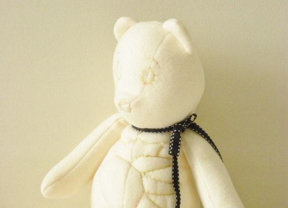 Bear Plush Toy - Ivory Bear - Stuffed Animal- Handmade Toy - Boutique Bear