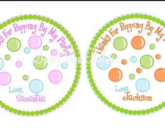 Bubble Party Favor Tags, Birthdays, Baby Showers  DIY Printable File