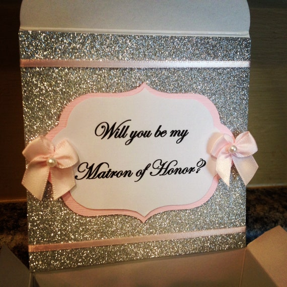 Items Similar To Will You Be My Bridesmaid Box With Ring