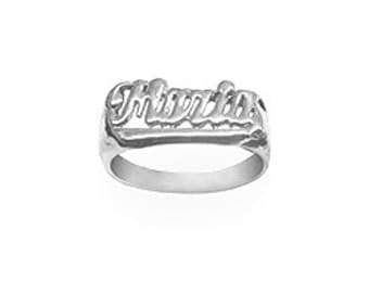 Name Ring 925 Sterling Silver Personalized Name Ring with Name of Your Choice Size 5 thru 10 Made in USA