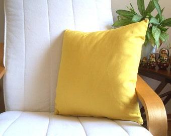 Decorative Throw pillow 18'' x 18''  Yellow Pillow Cover, CushionYellow Pillow