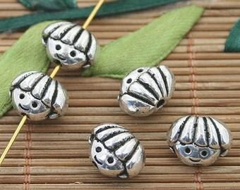 20pcs dark silver tone kid mask spacer beads h3199