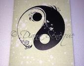 Yin Yang Greeting Card Blank 4x6