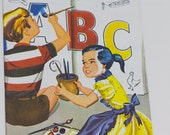 Vintage Children's ABC coloring book