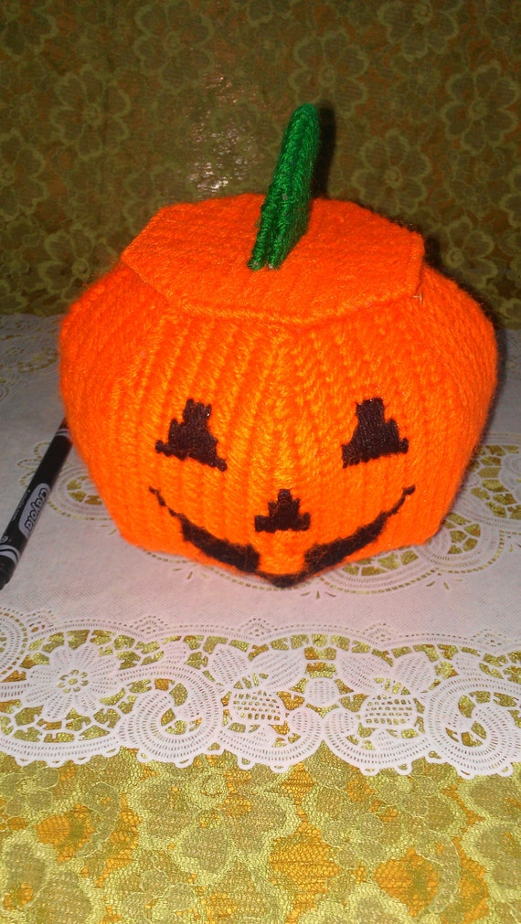 Vintage hand looped pumpkin with lid