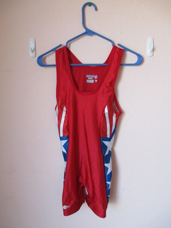 VTG Adult Americana Patriotic Wrestling Suit (2XS)