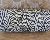 Baker's Twine - Black and White Twine - Full 100 Yard Spool