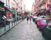 Reserved for Courtney Lovers Walk Paris Romance Street Photography Metallic 8 X 10