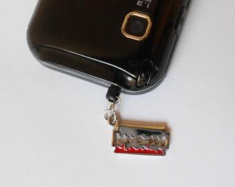 Ear Cap Razor blade ,Day of the Dead - Anti-Dust Plug Ear Cap 3.5mm for iPhone iPod.