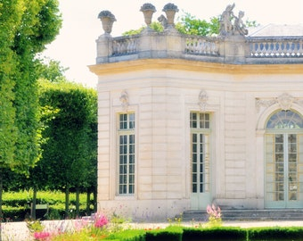 Marie Antoinette's Versailles, Paris 8x10 Photography Print - France, French - Country, Green, White, Architecture, Soft, Dreamy, Floral