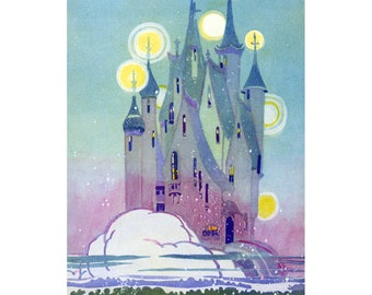 Fairy Castle Fabric Block | In the Sea in the Land of Nod