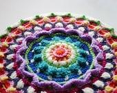 Mandala Crochet Pattern, Stool Cover, Pillow Cover, Wall Hanging