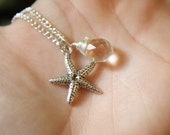 Starfish and Swarovski Crystal  Necklace