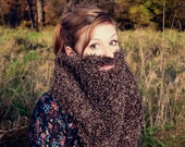 Bearded Brown Infinity Scarf - Gift for Beard Lovers