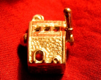 Miniature Slot Machine - Gambling Device - Dollhouse Toy  - M43
