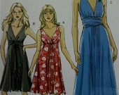 2000s Summer Dresses  Vogue Pattern 8386 Uncut  Size 6-8-10-12  Bust 30.5-31.5-32.5-34""
