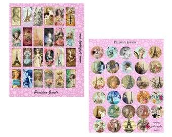 Parisian Dominos & Circles Collage Sheets