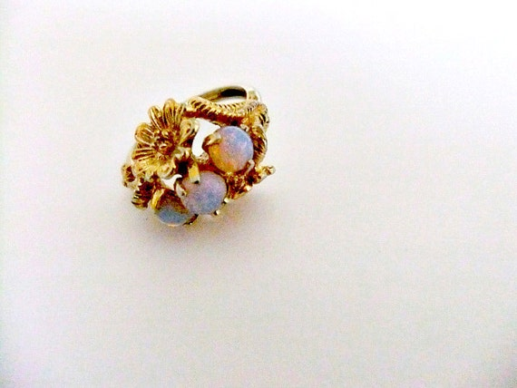 Vintage Avon Faux Opal Goldtone Ring Reserved For Dot By