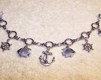 Nautical silver rope bracelet