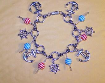 Nautical bracelet with buoys