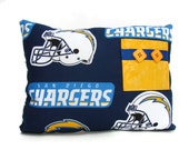 San Diego Chargers Tooth Fairy Pillow, Chargers Pillow, Sports Room Decor, Boys Sport Decor, Boys Room Decor , Personalized Pillow