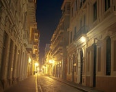 Night Street in Puerto Rico/ Giclee Printed/ Fine Art paper/ Archival, Acid Free/ Uv Protected/ 100% cotton fiber/ Photography