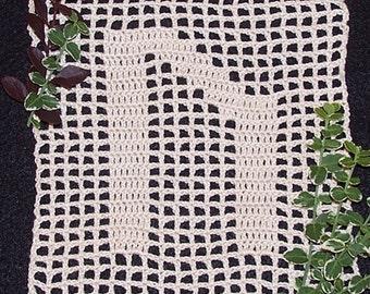 Instant Download Uruz Rune - Two Versions - Filet Crochet Pattern PDF, Bitcoin Accepted