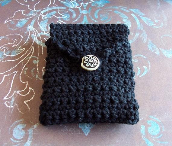 Black Crochet Cigarette or Cell Phone Case