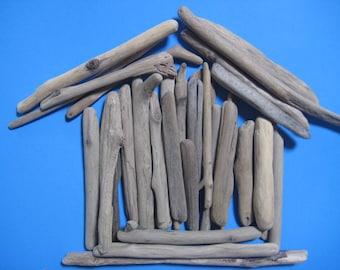 "Bulk Driftwood Pieces--25 Straightish Pieces of Drift Wood--5"" to 12""-- Craft Supplies--Beach Wedding Decor"