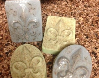 Fleur de Lis Soap available in Oval and Rectangle