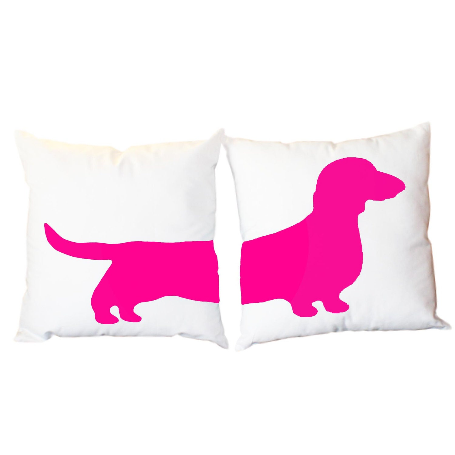 Modern Pillows Etsy : 2 Modern Dachshund Pillows Wiener Dog Home Decor by ScarlettandCo