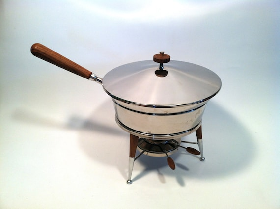 Cooking Warmers Vintage Fireplace ~ Vintage mid century food warmer fondue set by