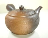 Japanese teapot Kyusu Tokoname Pottery Hand-crafted 'Earth's Soil'