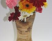 Turned Natural Edge Spalted Maple Wood Vase
