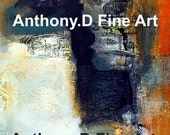 """Original ACEO Painting / Artist PRINT / """"Untitled"""" Abstract"""" Landscape By Anthony D"""